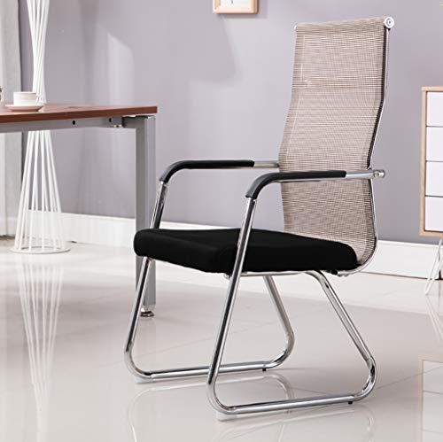 Chaises Surface en maille tendance Salle de réunion arrière respirante Chaise de réception Chaise d'ordinateur de bureau, taille: 55 * 52 * 120cm (Couleur : B)