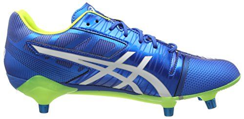 Asics - Gel-lethal Speed, Scarpe da Rugby Uomo Blu (Electric Blue/White/Flash Yell 3901)