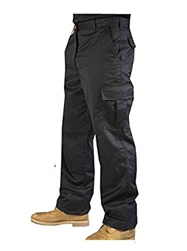 Men's Hard wearing Cargo Combat Builders Warehouse Workwear Trouser, Available in Black and Navy Colours
