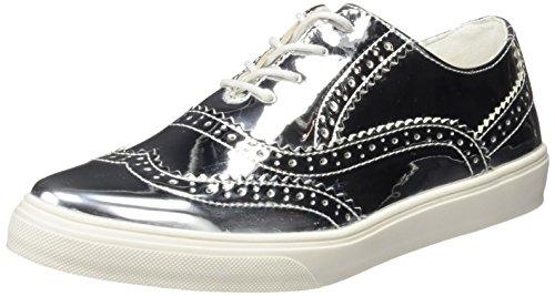 XTI  - Chaussures à lacets - Femme Argent - PLATA