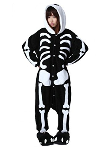 Arkind Unisexe Animaux Pyjama adulte Combinaison Nuit pour Enfant Halloween Cosplay Costume Pyjama Cadeau Anniverssaire Noël crâne