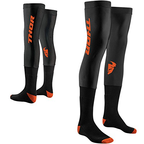 Thor Comp Socken Strümpfe Enduro Offroad Cross Motocross Quad Downhill Bmx Mtb Sx Mx Dh Fr (L/XL, Schwarz / Orange)