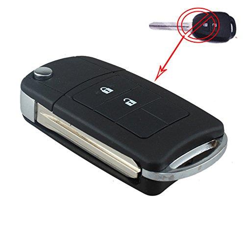 bacai-uncut-flip-remote-key-shell-case-fob-2-button-for-toyota-rav4-corolla-avalon