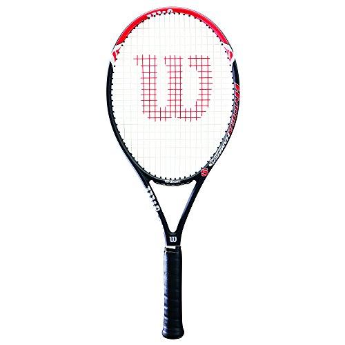 Wilson Damen/Herren-Tennisschläger, Anfänger und Fortgeschrittene, Hyper Hammer 5, Griffstärke 4, Grafit, rot/schwarz, WRT57290U4