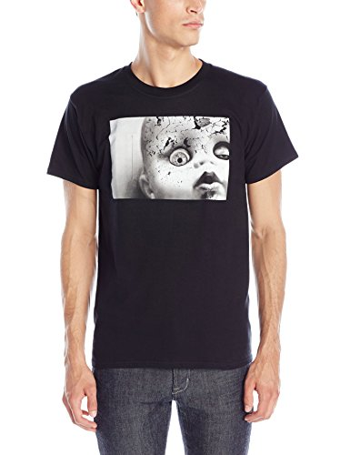 - Creepy Doll Face T-shirt Größe Large, schwarz (Creepy Doll Kostüme)
