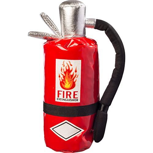 NET TOYS Lustige Handtasche Feuerlöscher | Rot-Schwarz | Ausgefallenes Party-Accessoires für Feuerwehr-Mann & -Frau | Nützlich für Kostümfest & Fasching (Feuerwehr Frau Kostüm Zubehör)