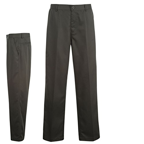 Dunlop Herren Golfhose Gerades Bein Outdoor Golf Hose Freizeithose Neu Grau 32W 33L