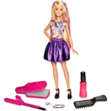 Barbie DWK49 FASHION & BEAUTY DIY Crimps and Curls Doll Hair Play Doll, Style, Fashion and Fabulous Accessories