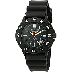 Men's Uzi Defender Rubber Strap Tritium Watch Black