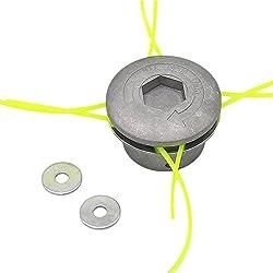 SWNKDG Aluminium fils Tête Coupe-bordure Tête double fil bobine Tête fil nylon pour débroussailleuse à essence Tondeuse à Gazon