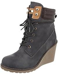 Zapatos para mujer Botas Plataforma Botines de tac—n de cuna Ital-Design