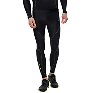 Ultrasport Professional Herren Kompressionshose Rainbow lang, Laufhose, Fitnesshose mit hoher Kompressionswirkung, bunte Flachnähte, Reflektor Prints und Schlüsseltasche, innenliegendes Taillenband