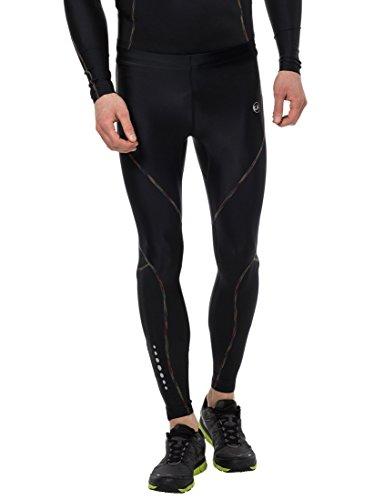 Ultrasport rainbow pantaloni compressivi da corsa/pantaloni sportivi lunghi, uomo, nero, l