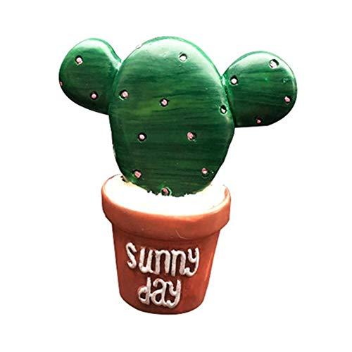 BOENTA Deodorante Diffusore Clip di Ventilazione in Plastica Fiore in Vaso Auto Profumo Clip Cactus Aloe Cactus Verde Auto Fresca Aria Condizionata Aromaterapia Decorativa 1-1