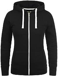 DESIRES Derby Zip Damen Sweatjacke Kapuzen-Jacke Zip-Hoodie mit Kapuze aus hochwertiger Baumwollmischung