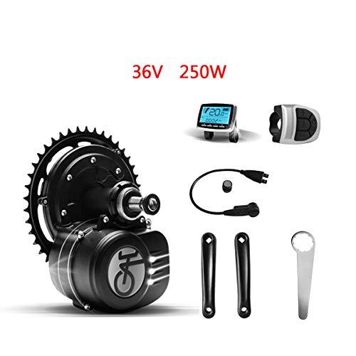 Tongsheng Motor de Bicicleta eléctrica 36V 250W VLCD5 TSDZ2 Kit de Motor Central E-Bike Mid Drive Motor (Arma de Escalada...