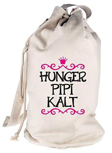 Hunger Pipi Kalt, Prinzessin bedruckter Seesack Umhängetasche Schultertasche Beutel Bag Natur