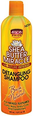 African Pride Shea Butter Miracle Detangling Shampoo 360 ml (Pack of 2)