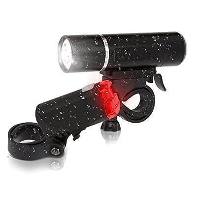 Oramics Fahrradlicht Set mit StVZO Zulassung, Batteriebetriebenes Rücklicht und Vorderlicht mit Rohrmontage Befestigung für alle Fahrräder, superhelles Fahrradlampenset für Ihre Sicherheit beim Fahrradfahren, modernes spritzwassergeschütztes Fahrradlampe