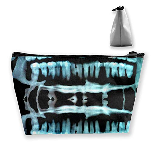 Halloween Spooky Skeleton Teeth Cosmetic Makeup Bag/Pouch/Clutch Travel Case Organizer Storage Bag