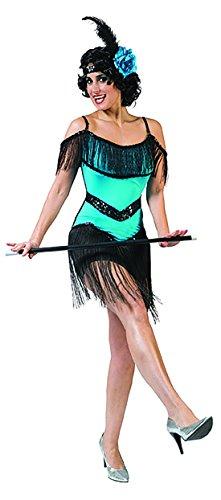 Luxuspiraten - Flapper Kleid Kostüm mit Fransen über der Brust für Damen, S, - Black Jazz Flapper Kostüm