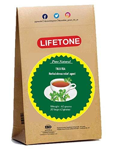 Té Tulsi | de la selva tropical | Cultivado orgánicamente | 20 bolsitas de té | Hora de dormir Té para aliviar el estrés