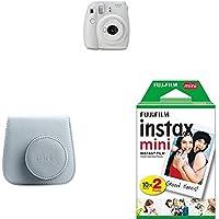 Fujifilm Instax Mini 9 - Kit Cámara instantánea + Funda, color Blanco (Smoky White)