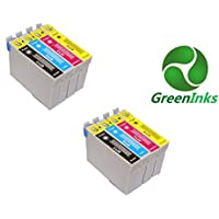 8 inks, Compatible Printer Inks Cartridges to replace Epson T0711 T0712 T0713 T0714 (T0715) - Cyan, Magenta, Yellow, Black), 2 Full Multipack of T0715 (2xT0711 2xT0712 2xT0713 2xT0714), for Epson Printer Stylus D78/D92/D120/DX4000/DX4050/DX4400 DX4450/DX5000/DX5050/DX6000/DX6050/DX7000F DX7400/DX7450/DX8400/DX8450/DX9400F/S20/S21 SX100/SX110/SX105/SX115/SX200/SX205/SX209/SX210 SX215/SX218/SX400/SX405/SX405WiFi/SX410/SX415/SX510W/ SX515W/SX600FW/BX600FW/BX610FW Office B40W/BX300F/BX310FN