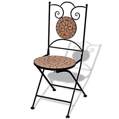 weilandeal Mosaik Bistro Stuhl Terracotta 2Stück Material: Gestell Eisen pulverbeschichtet + Keramik Sitz Garten Stuhl Garten Stuhl von WEILANDEAL - Gartenmöbel von Du und Dein Garten