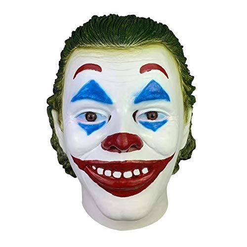 Corwar Erwachsene Horror Clown Joker Maske Halloween Cosplay Kostüm Requisiten, Halloween Scary Evil Clown Maske, 2019 Halloween Horror Clown Maske Für Frauen Männer Well Made - Home Made Clown Kostüm