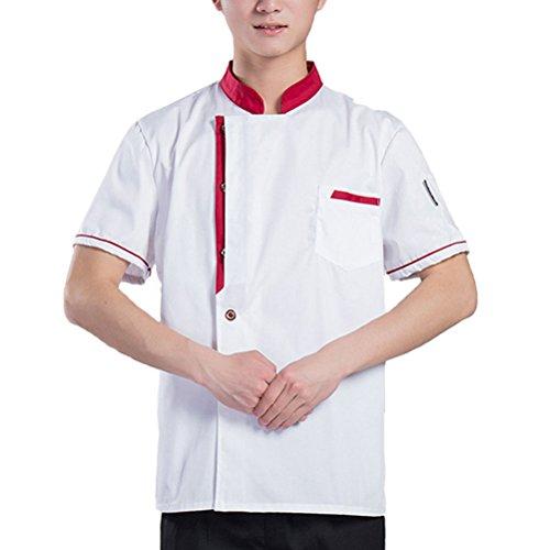 Zhuhaitf Haute qualité Classic Chef Uniform 3 Colors Unisex Simplicity Long Sleeve Work Clothes white