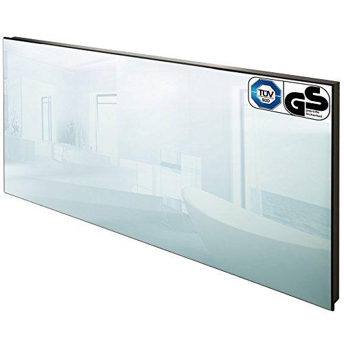 TecTake Spiegel Infrarotheizung Spiegelheizung ESG Glas