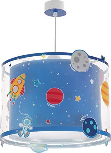 Dalber Planets Hängelampe Kinder, Plastik, Blau, 33 x 33 x 25 cm
