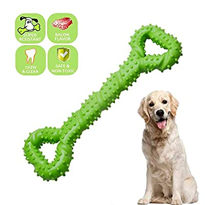 ?? Dog Chew Toys Indestructible for Aggressive Large Dog, Durable Long Lasting Strong Tough TPR Rubber Bone Shape Tooth Cleaning Toys Perfect to Relieve Pets Boredom Interactive Training Toys