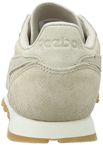 Reebok Damen CL Lthr Clean Exotics Gymnastikschuhe Grau (Stucco/chalk/sand Stone/gum)