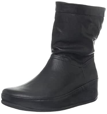 FitFlop Fitflop Boots Crush Leather Black Black UK7