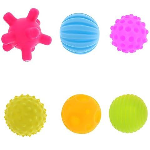 MagiDeal Lot 6pcs Balle Sensorielle Jouet d'Eveil Massage Boules Ballons
