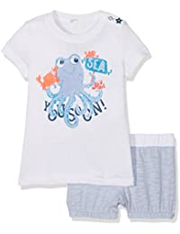 Benetton Set T-Shirt+Shorts, Conjunto de Ropa para Bebés