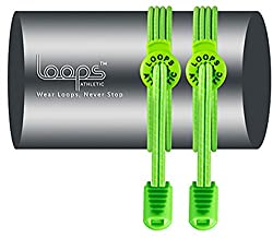 LOOPS ATHLETIC NO TIE LACES: Elastic Laces with Patented Design, For Running, Marathons, Mountaineering, Golf, Football and other Athletic Activities, For Men, Women, Kids, Senior Citizens, Special needs, 100% Satisfaction Guaranteed, Sport Shoes, Cleats, Boots