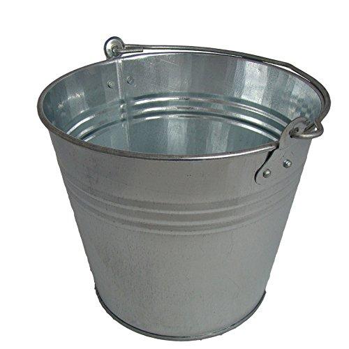 Zinkeimer 7 Liter, Eimer verzinkt, Dekoeimer, Blecheimer Metalleimer Wassereimer