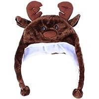 BESTOYARD Disfraz de Animal Sombrero de Felpa de esquí de Invierno Estilo Aviador Sombrero de Dibujos