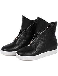 Sneakers in Pelle Moda Donna 2018 Autunno Semplice Stivaletto Piatto da  Studente di Grandi Dimensioni 33 c559e2ad5cc