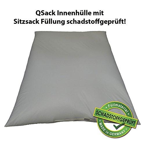 QSack Sitzsack Innenhülle mit EPS Mikroperlen, 400 Liter Sitzsack Füllung schadstoffgeprüft, EPS ohne HBCD, 130x170 cm, do it Yourself Sitzsack selber nähen