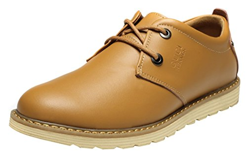 imayson-mens-business-leather-shoes-low-top-flats-casual-lace-up-oxford-uk-8-color-khaki