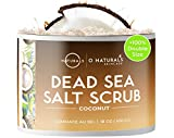 O Naturals Ultra Hydrating Exfoliating Coconut Oil Dead Sea Salt Body & Face Scrub. Skin Smoothing Anti Cellulite Treat Acne Stretch Marks Ingrown Hairs Dead Skin Remover Razor Burns Men & Women 500gr