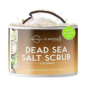 O Naturals Exfoliante de Aceite de Coco y Sal del Mar Muerto, Limpieza Profunda de Cara Cuerpo y Pies. Anticelulítico…
