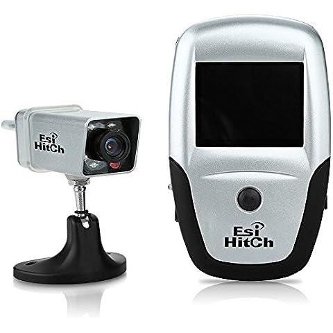 Esi Hitch Sistema de cámara de visión nocturna por infrarrojos resistente a la cámara de reserva sin hilos del vehículo cámara de visión trasera portátil interferencia digital Agua gratis para enganche de remolque RV visión trasera con 2,5