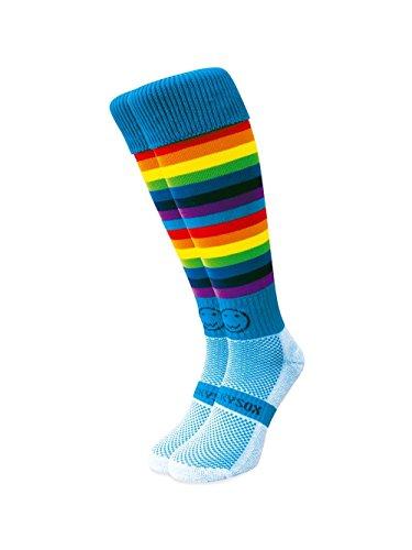 WackySox Double Rainbow Micro Hooped Sports Socks
