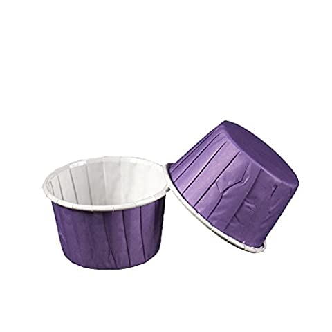Yaxitu 100Pcs Paper Cake Cup Cupcake Cases Liners Muffin Cuisine Baking Wedding Party Cake Baking Cup (Violet)