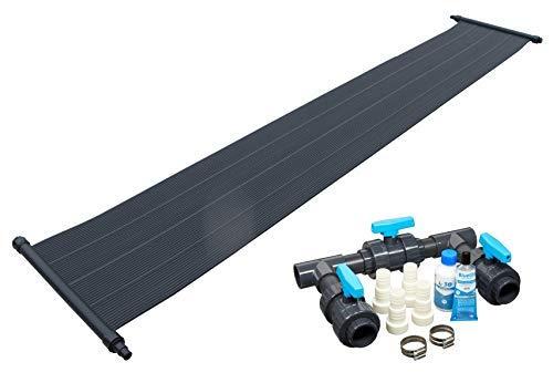well2wellness® Eco Pool Solar Set Solarmatte Solarheizung 'Power' 6,0 x 0,6 m Plus Bypass-Set Basic (022618)
